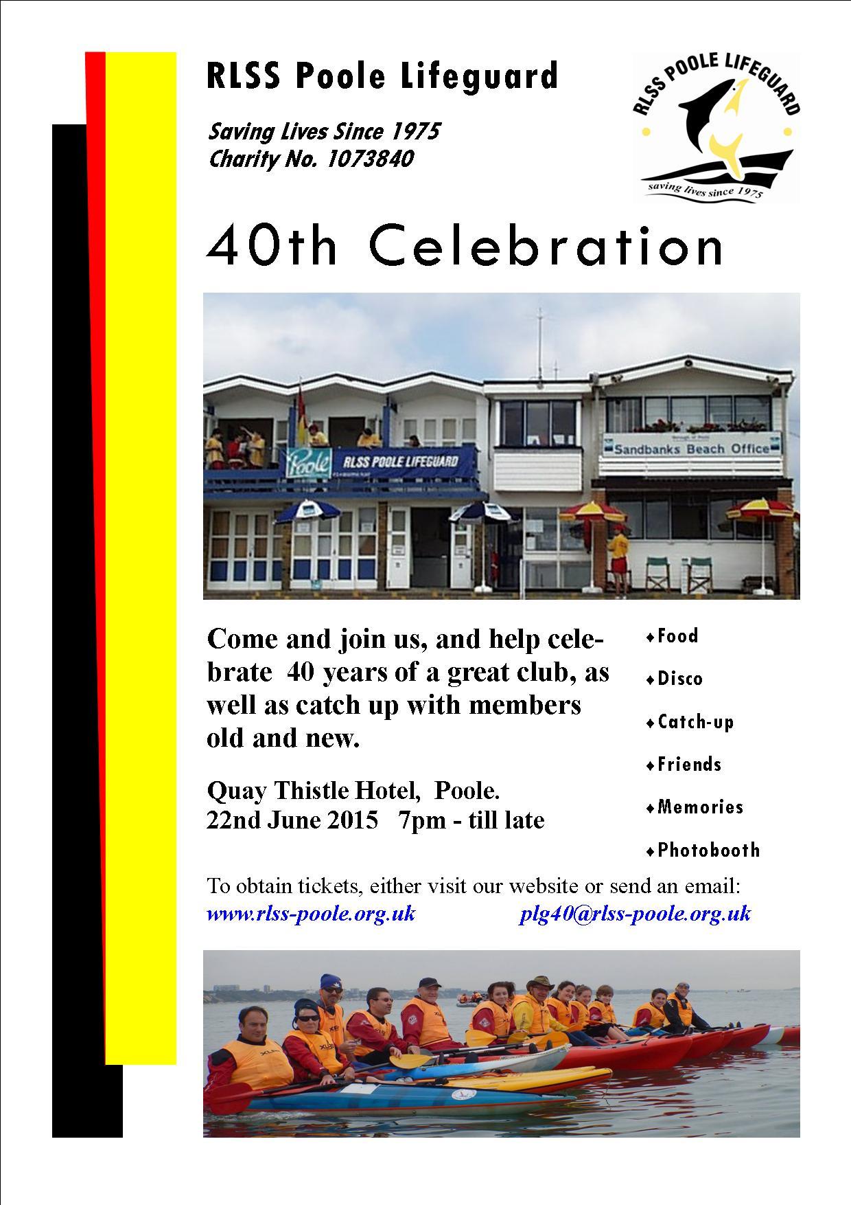 RLSS Poole Lifeguard 40th Celebration